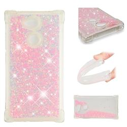 Dynamic Liquid Glitter Sand Quicksand TPU Case for Sony Xperia L2 - Silver Powder Star