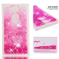 Dynamic Liquid Glitter Quicksand Sequins TPU Phone Case for Sony Xperia L2 - Rose