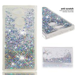 Dynamic Liquid Glitter Quicksand Sequins TPU Phone Case for Sony Xperia L2 - Silver