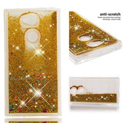 Dynamic Liquid Glitter Quicksand Sequins TPU Phone Case for Sony Xperia L2 - Golden