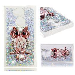 Seashell Owl Dynamic Liquid Glitter Quicksand Soft TPU Case for Sony Xperia L2