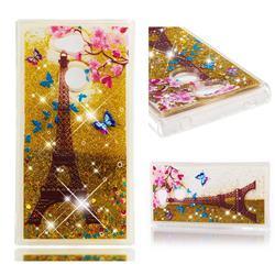 Golden Tower Dynamic Liquid Glitter Quicksand Soft TPU Case for Sony Xperia L2