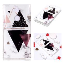 Four Triangular Soft TPU Marble Pattern Phone Case for Sony Xperia L2