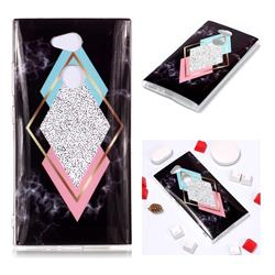 Black Diamond Soft TPU Marble Pattern Phone Case for Sony Xperia L2