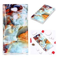 Fire Cloud Soft TPU Marble Pattern Phone Case for Sony Xperia L2