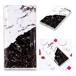 Black and White Soft TPU Marble Pattern Phone Case for Sony Xperia L2