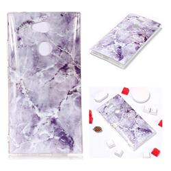 Light Gray Soft TPU Marble Pattern Phone Case for Sony Xperia L2