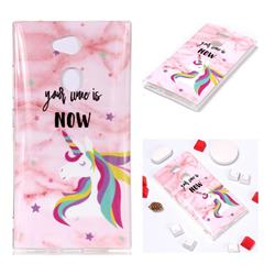 Unicorn Soft TPU Marble Pattern Phone Case for Sony Xperia L2