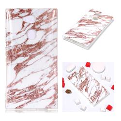 Rose Gold Grain Soft TPU Marble Pattern Phone Case for Sony Xperia L2