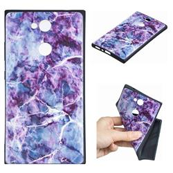 Marble 3D Embossed Relief Black TPU Cell Phone Back Cover for Sony Xperia L2