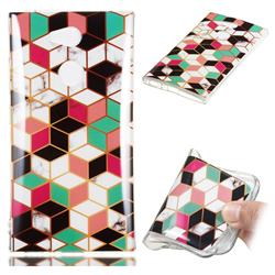 Three-dimensional Square Soft TPU Marble Pattern Phone Case for Sony Xperia L2