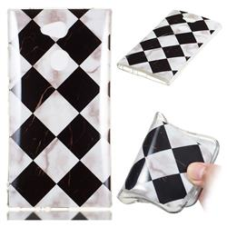 Black and White Matching Soft TPU Marble Pattern Phone Case for Sony Xperia L2