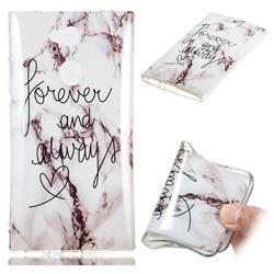 Forever Soft TPU Marble Pattern Phone Case for Sony Xperia L2
