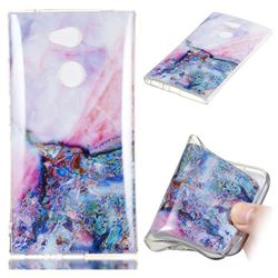 Purple Amber Soft TPU Marble Pattern Phone Case for Sony Xperia L2