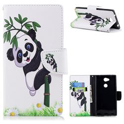 Bamboo Panda Leather Wallet Case for Sony Xperia L2