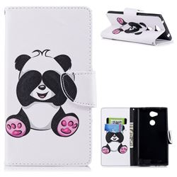 Lovely Panda Leather Wallet Case for Sony Xperia L2