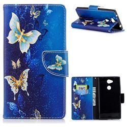 Golden Butterflies Leather Wallet Case for Sony Xperia L2