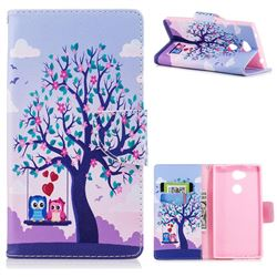 Tree and Owls Leather Wallet Case for Sony Xperia L2