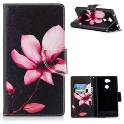 Lotus Flower Leather Wallet Case for Sony Xperia L2