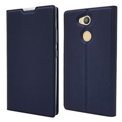 Ultra Slim Card Magnetic Automatic Suction Leather Wallet Case for Sony Xperia L2 - Royal Blue