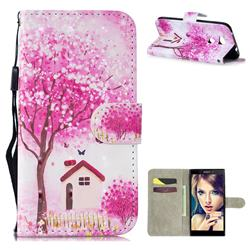 Tree House 3D Painted Leather Wallet Phone Case for Sony Xperia L2