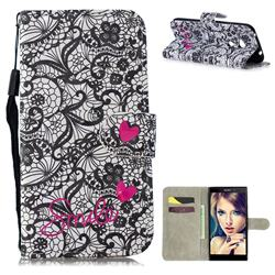 Lace Flower 3D Painted Leather Wallet Phone Case for Sony Xperia L2