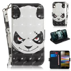Angry Bear 3D Painted Leather Wallet Phone Case for Sony Xperia L3