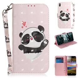Heart Cat 3D Painted Leather Wallet Phone Case for Sony Xperia L3