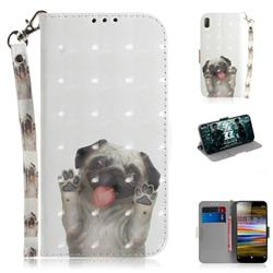 Pug Dog 3D Painted Leather Wallet Phone Case for Sony Xperia L3