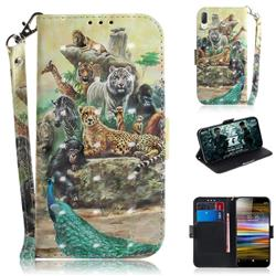 Beast Zoo 3D Painted Leather Wallet Phone Case for Sony Xperia L3