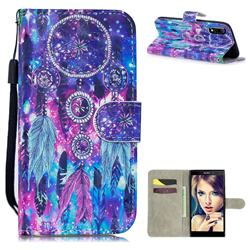 Star Wind Chimes 3D Painted Leather Wallet Phone Case for Sony Xperia L3
