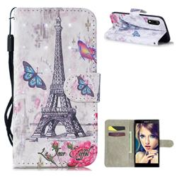 Paris Tower 3D Painted Leather Wallet Phone Case for Sony Xperia L3
