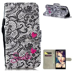 Lace Flower 3D Painted Leather Wallet Phone Case for Sony Xperia L3