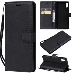 Retro Greek Classic Smooth PU Leather Wallet Phone Case for Sony Xperia L3 - Black
