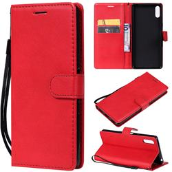 Retro Greek Classic Smooth PU Leather Wallet Phone Case for Sony Xperia L3 - Red