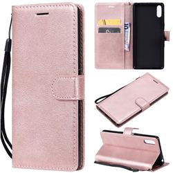 Retro Greek Classic Smooth PU Leather Wallet Phone Case for Sony Xperia L3 - Rose Gold