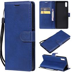 Retro Greek Classic Smooth PU Leather Wallet Phone Case for Sony Xperia L3 - Blue