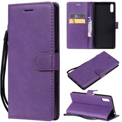 Retro Greek Classic Smooth PU Leather Wallet Phone Case for Sony Xperia L3 - Purple