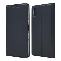 Ultra Slim Card Magnetic Automatic Suction Leather Wallet Case for Sony Xperia L3 - Star Grey