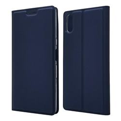 Ultra Slim Card Magnetic Automatic Suction Leather Wallet Case for Sony Xperia L3 - Royal Blue