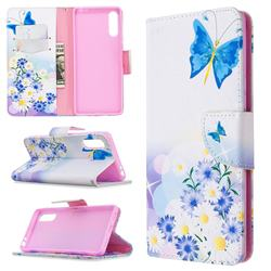 Butterflies Flowers Leather Wallet Case for Sony Xperia L4