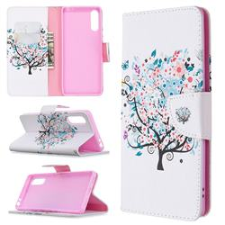 Colorful Tree Leather Wallet Case for Sony Xperia L4