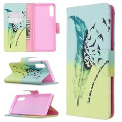 Feather Bird Leather Wallet Case for Sony Xperia L4