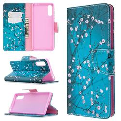 Blue Plum Leather Wallet Case for Sony Xperia L4