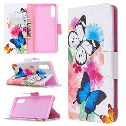 Vivid Flying Butterflies Leather Wallet Case for Sony Xperia L4