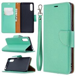 Classic Luxury Litchi Leather Phone Wallet Case for Sony Xperia L4 - Green