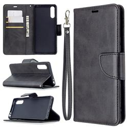 Classic Sheepskin PU Leather Phone Wallet Case for Sony Xperia L4 - Black