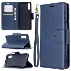 Classic Sheepskin PU Leather Phone Wallet Case for Sony Xperia L4 - Blue