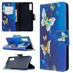 Golden Butterflies Leather Wallet Case for Sony Xperia L4