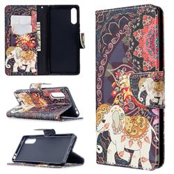 Totem Flower Elephant Leather Wallet Case for Sony Xperia L4
